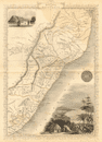'NATAL & KAFFRARIA'. Eastern Cape. Durban. South Africa TALLIS/RAPKIN 1849 map